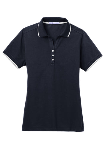 Port Authority Ladies Rapid Dry Tipped Polo L454
