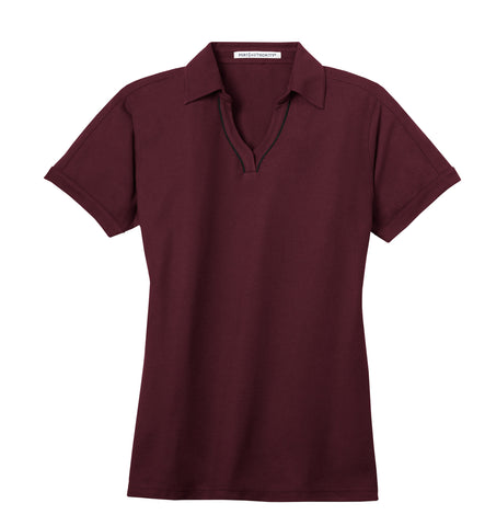 Port Authority Ladies Silk Touch Piped Polo L502