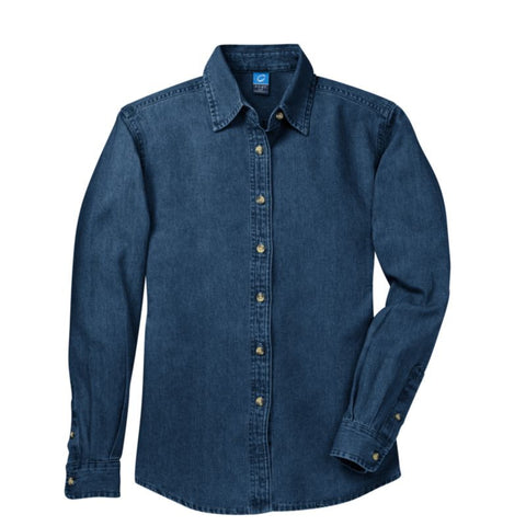 Port & Company  Ladies Long Sleeve Value Denim Shirt  LSP10