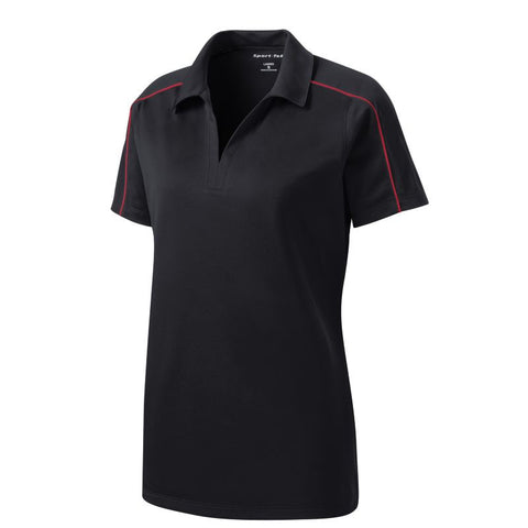 NEW Sport Tek Ladies Micropique Sport Wick Piped Polo LST653