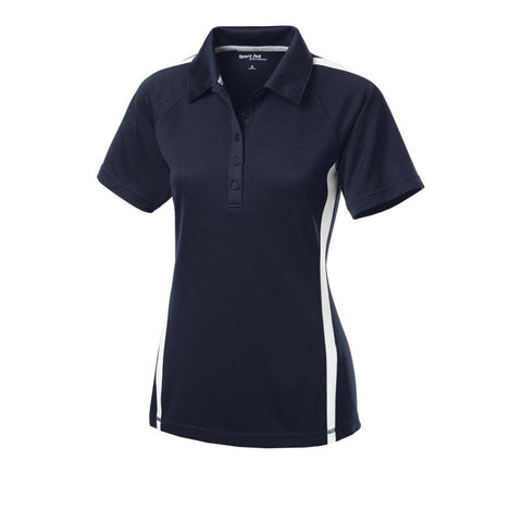 Sport Tek Ladies PosiCharge  Micro-Mesh Colorblock Polo  LST685