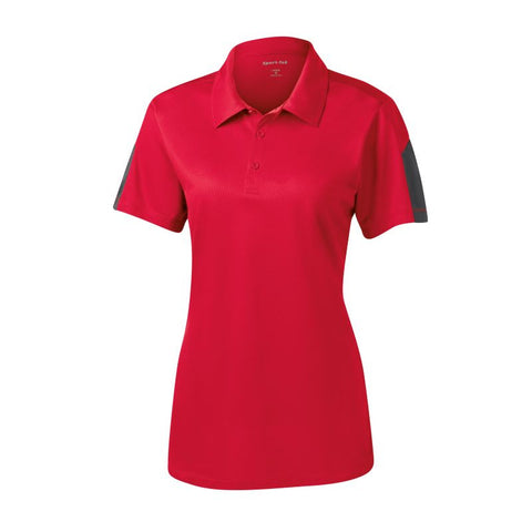 Sport Tek Ladies Active Textured Colorblock Polo  LST695
