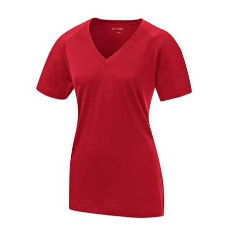 Sport Tek Ladies Ultimate Performance V-Neck  LST700