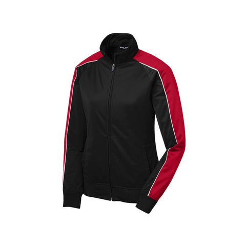 Sport Tek Ladies Piped Tricot Track Jacket  LST92