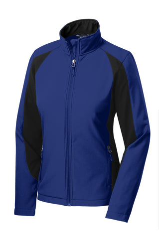 Sport-Tek Colorblock Ladies Soft Shell Jacket LST970