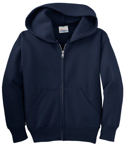 Hanes Youth Comfortblend EcoSmart Full-Zip Hooded Sweatshirt P480