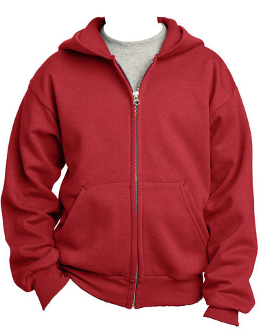 Port & Company Youth Classic Full-Zip Hooded Sweatshirt PC90YZH