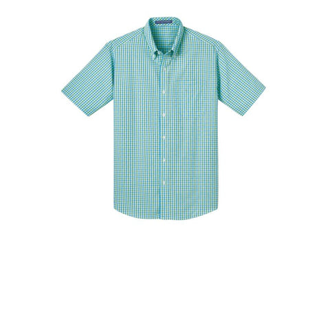 Port Authority Short Sleeve Gingham Easy Care Shirt  S655