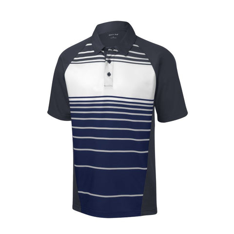 Sport Tek Dry Zone Sublimated Stripe Polo  ST600