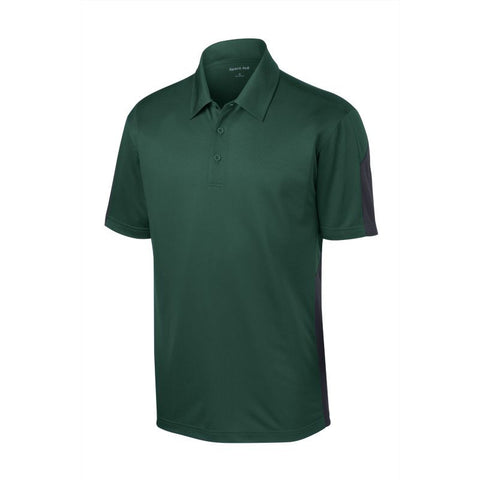 Sport Tek  Active Textured Colorblock Polo  ST695