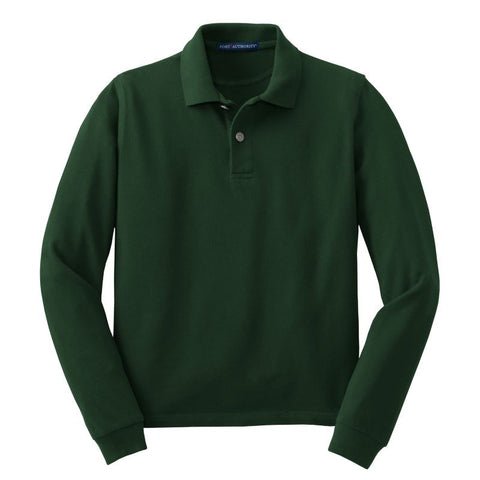Port Authority Youth Long Sleeve Pique Knit Polo Y320