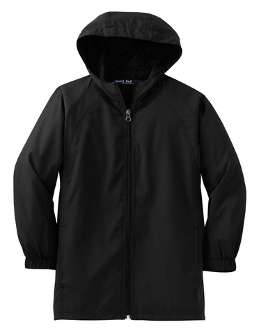 Sport-Tek Youth Hooded Raglan Jacket YST73
