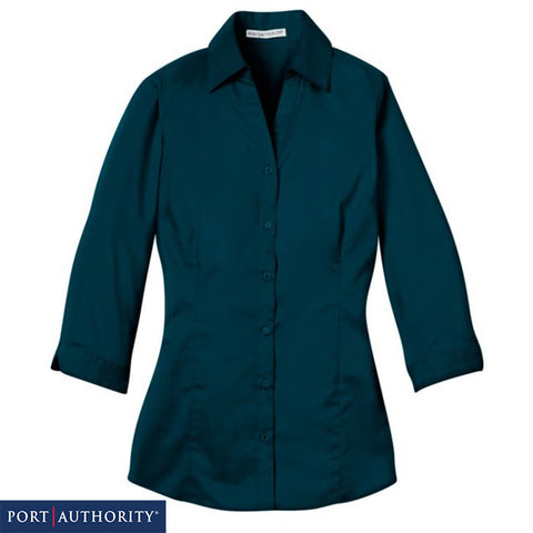 Port Authority Ladies 3/4 Sleeve Blouse  L6290