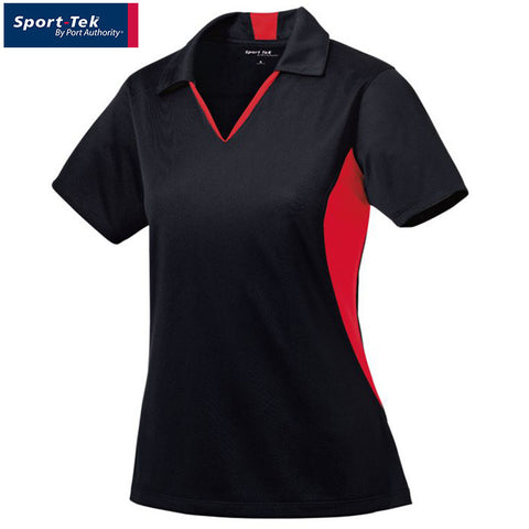Sport Tek Ladies Side Blocked Micropique Sport Wick Polo  LST655