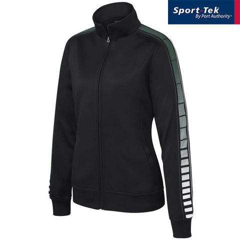 Sport Tek Ladies Dot Sublimation Tricot Track Jacket  LST93