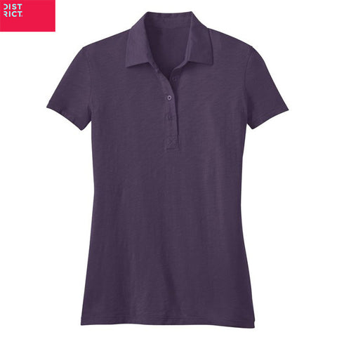 District Made  Ladies Slub Polo  DM450