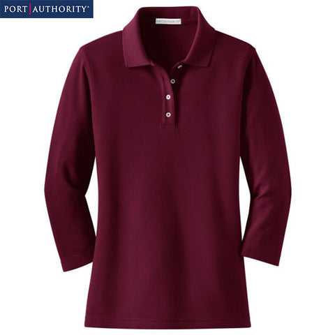 Port Authority Ladies EZCotton Pique 3/4 Sleeve Polo L801