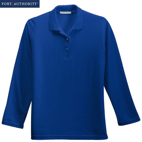 Port Authority Ladies Long Sleeve Silk Touch Polo  L500LS
