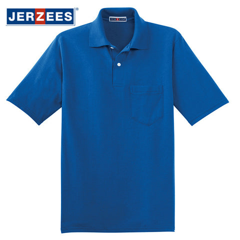 JERZEES  SpotShield 5.6-Ounce Jersey Knit Sport Shirt with Pocket  436MP