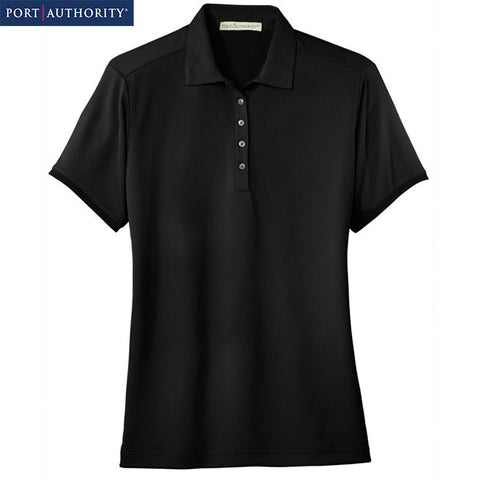 Port Authority Ladies Poly-Bamboo Charcoal Birdseye Jacquard Polo L498