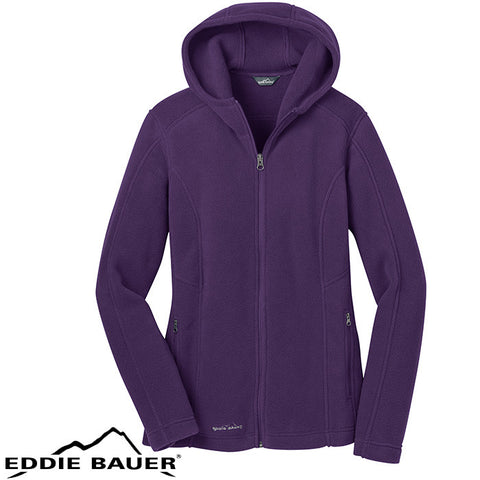 Eddie Bauer Ladies Hooded Full Zip Fleece Jacket  EB206