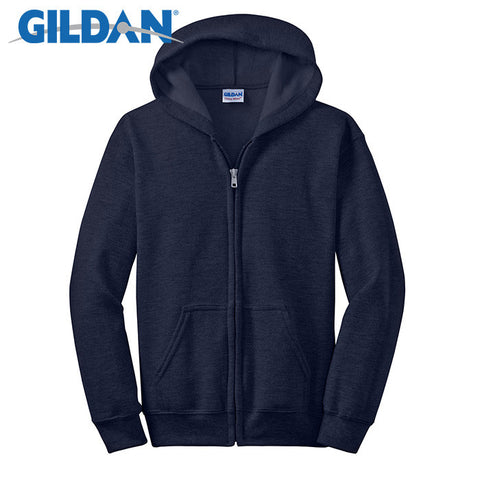Gildan Youth Heavy Blend Full-Zip Hooded Sweatshirt 18600B