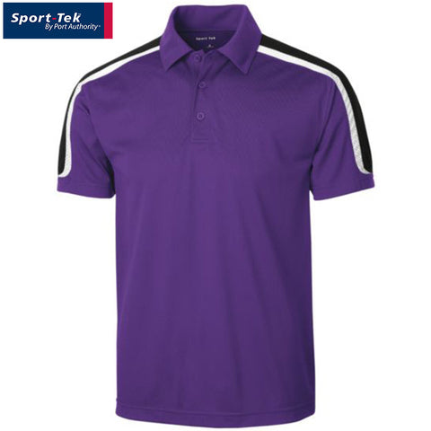 Sport Tek Tricolor Shoulder Micropique Sport Wick Polo  ST658