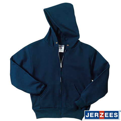 JERZEES Youth NuBlend Full-Zip Hooded Sweatshirt  993B