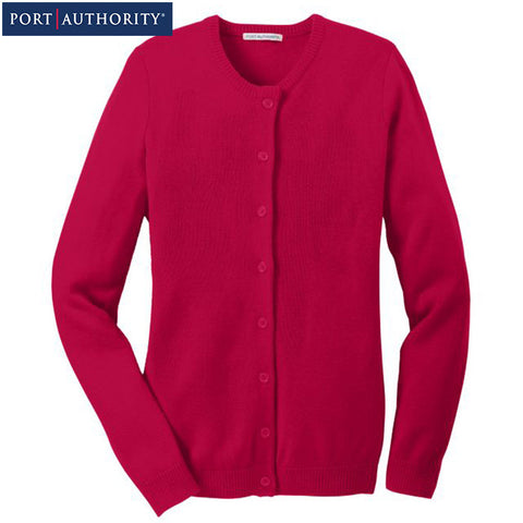 Port Authority Ladies Value Jewel Neck Cardigan  LSW304