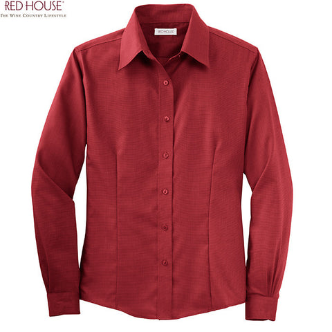 Red House  Ladies Nailhead Non Iron Button Down Shirt  RH47