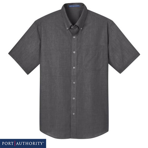 Port Authority  Short Sleeve Crosshatch Easy Care Shirt  S656