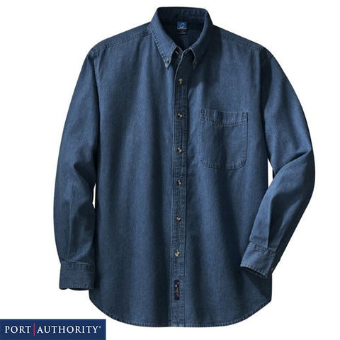 Port & Company  Long Sleeve Value Denim Shirt  SP10