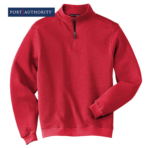 Port Authority Flatback Rib 1/4-Zip Pullover  F220