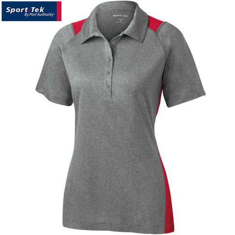 Sport Tek  Ladies Heather Colorblock Contender Polo  LST665