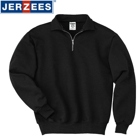JERZEES Super Sweats 1/4-Zip Sweatshirt with Cadet Collar 4528M