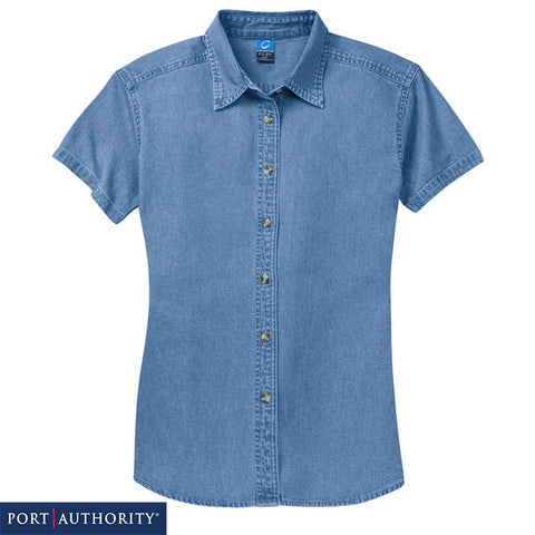 Port & Company  Ladies Short Sleeve Value Denim Shirt  LSP11