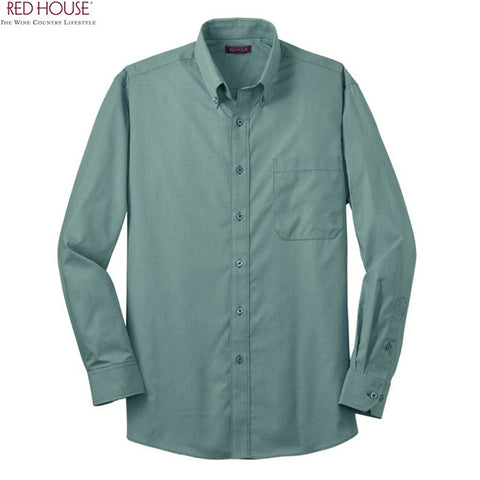 Red House  Mini Check Non Iron Button Down Shirt  RH66