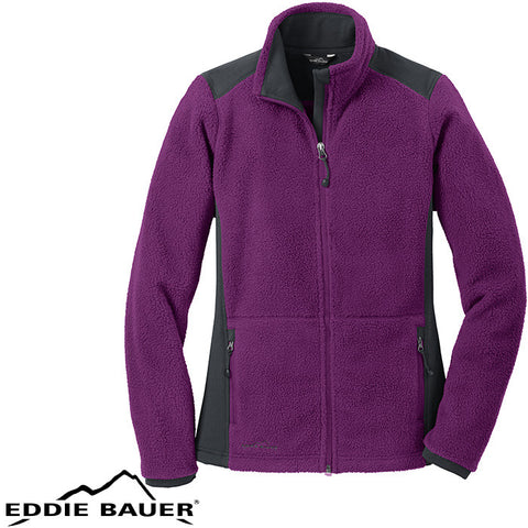 Eddie Bauer Ladies Full Zip Sherpa Fleece Jacket  EB233