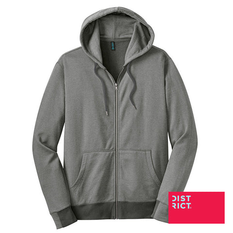 District Made Mini Stripe Full-Zip Hoodie DM390