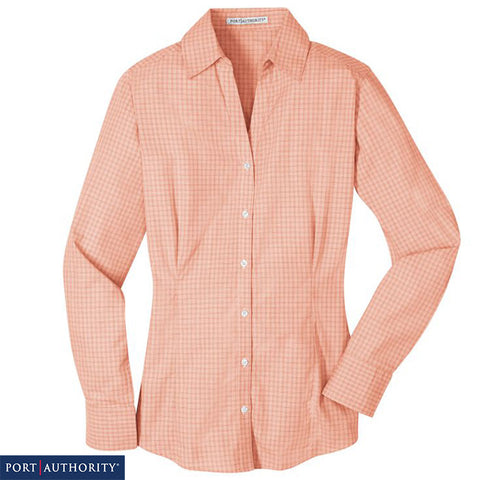 Port Authority Ladies Plaid Pattern Easy Care Shirt  L639