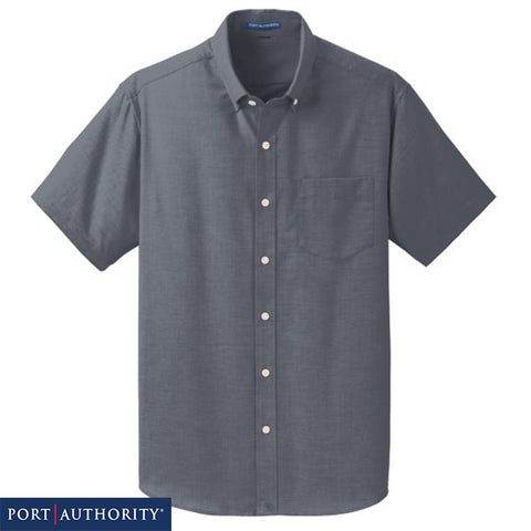 NEW Port Authority Short Sleeve SuperPro Oxford Shirt  S659