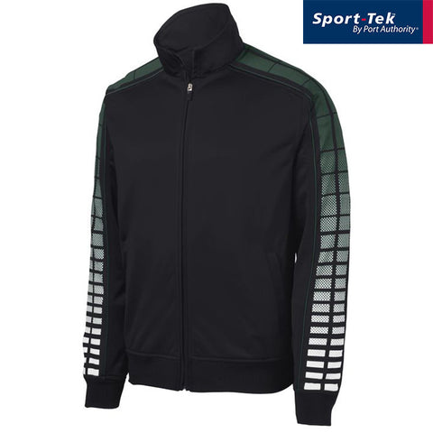 Sport Tek Dot Sublimation Tricot Track Jacket  JST93