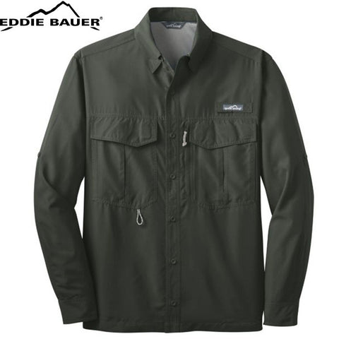 Eddie Bauer  Long Sleeve Performance Fishing Shirt  EB600