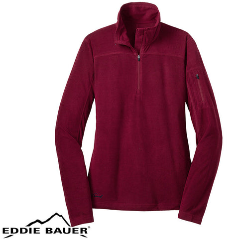 Eddie Bauer  Ladies 1/4 Zip Grid Fleece Pullover  EB221