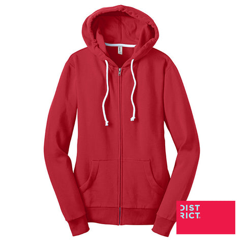 District Juniors Core Fleece Full-Zip Hoodie DT290