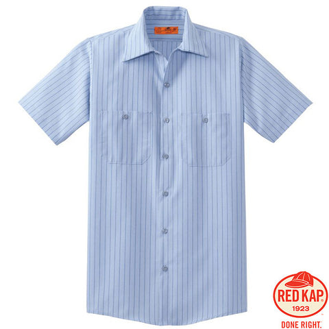 Red Kap  Short Sleeve Striped Industrial Work Shirt  CS20