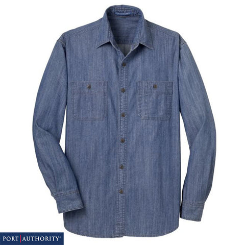 Port Authority Patch Pockets Denim Shirt  S652