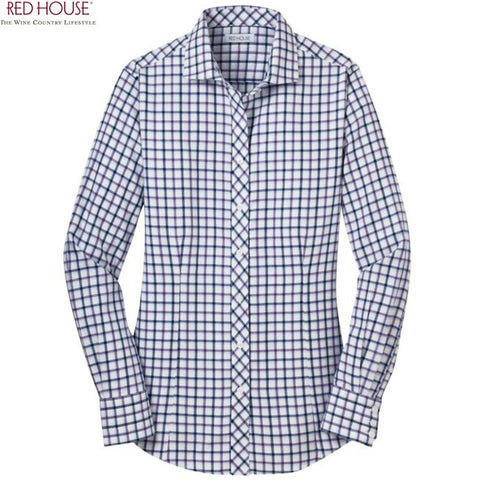 Red House Ladies Tricolor Check Non Iron Shirt  RH75
