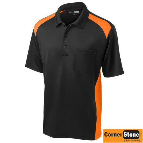 CornerStone Select Snag Proof Two Way Colorblock Pocket Polo  CS416