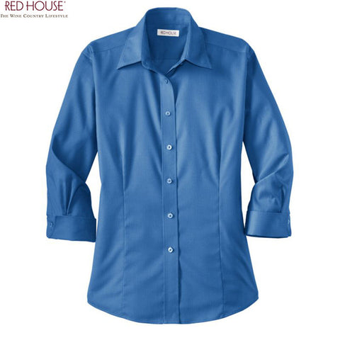 Red House  Ladies 3/4-Sleeve Dobby Non Iron Button Down Shirt  RH61
